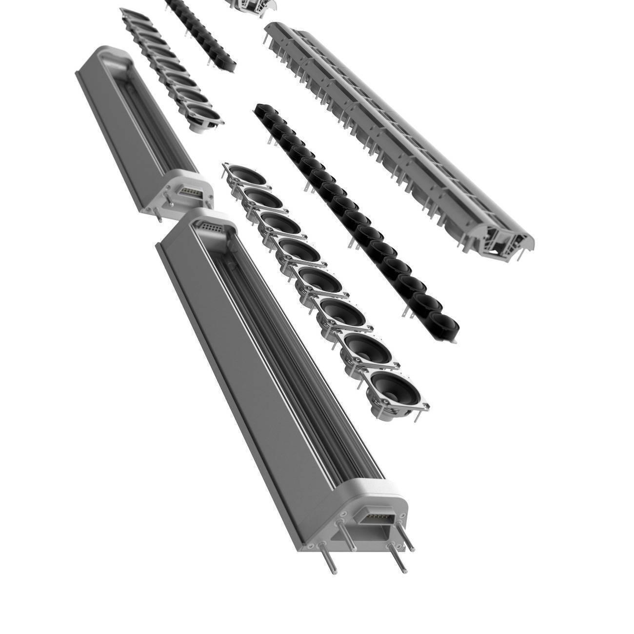 Sistema PA de Columna Diseñado por Porsche Bco