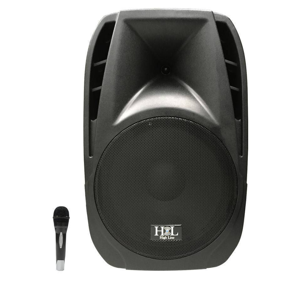 "Bafle Amplficado 15"" Con Bateria, MP3, SD, FM, Bluetooh Y Mic."