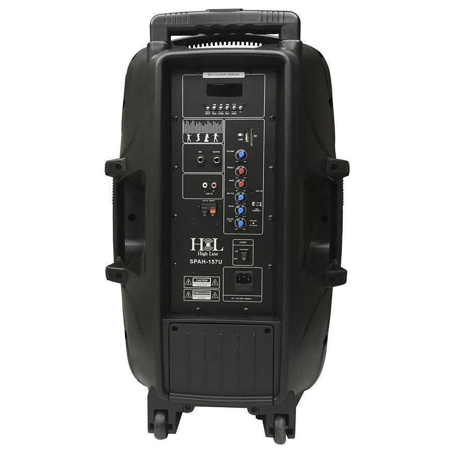 Bafle Amplficado spah-157u Con Bateria, MP3, SD, FM, Bluetooh Y Microfono