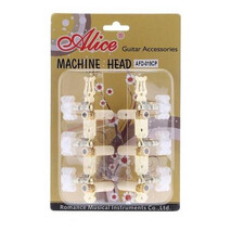 Maquinaria para Guitarra Clasica Dorada Lira Clavija Flor Alice