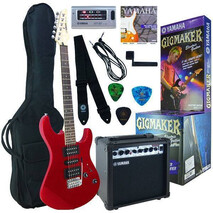 Paquete Guitarra Yamaha Roja